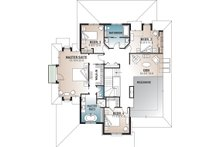 European Floor Plan - Upper Floor Plan Plan #23-583
