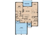 European Style House Plan - 4 Beds 3 Baths 3012 Sq/Ft Plan #923-57 Floor Plan - Main Floor Plan