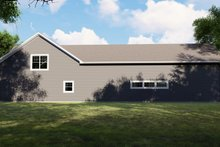 House Plan Design - Country Exterior - Rear Elevation Plan #1064-74