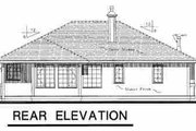 Traditional Style House Plan - 3 Beds 2 Baths 1142 Sq/Ft Plan #18-1026 Exterior - Rear Elevation