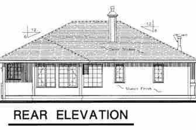Traditional Exterior - Rear Elevation Plan #18-1026 - Houseplans.com