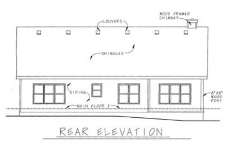 Craftsman Exterior - Rear Elevation Plan #20-126 - Houseplans.com