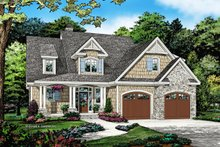 Cottage Exterior - Front Elevation Plan #929-1066