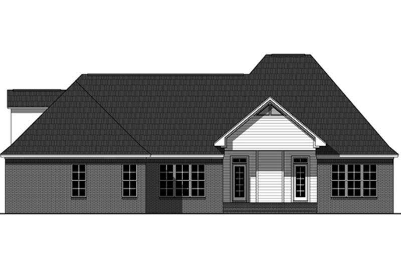 European Exterior - Rear Elevation Plan #21-336 - Houseplans.com