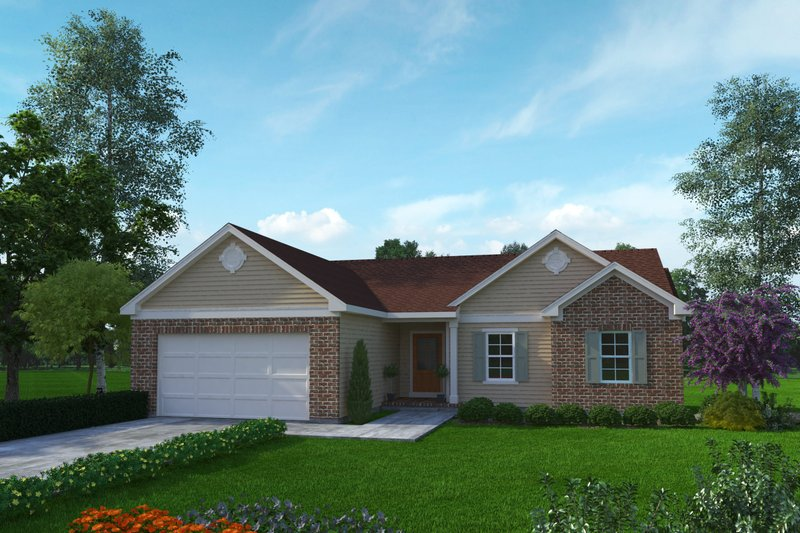 Home Plan - Ranch Exterior - Front Elevation Plan #22-633