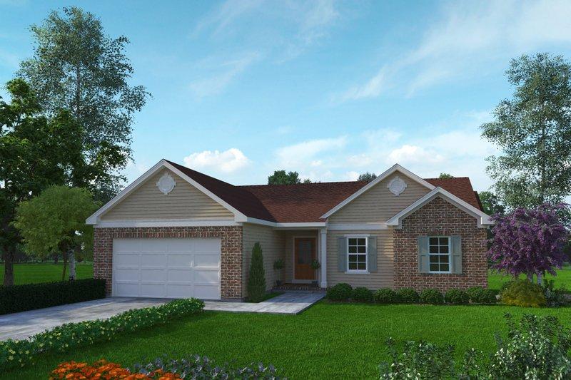 House Plan Design - Ranch Exterior - Front Elevation Plan #22-633
