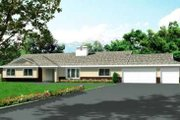 Mediterranean Style House Plan - 4 Beds 3 Baths 2648 Sq/Ft Plan #1-639 Exterior - Front Elevation