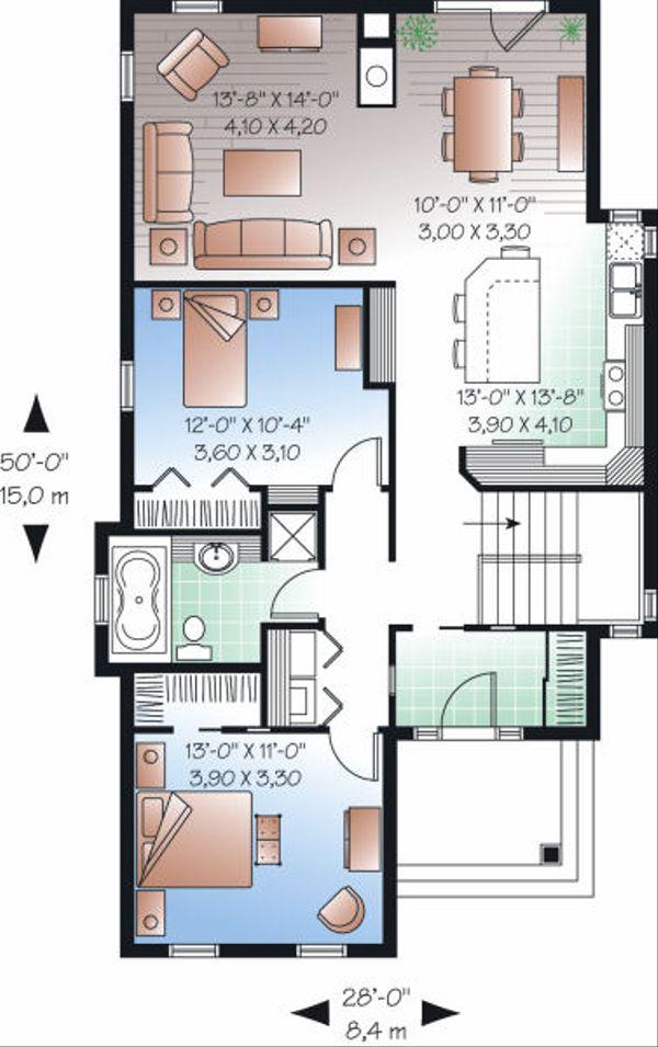 Country Floor Plan - Main Floor Plan Plan #23-780