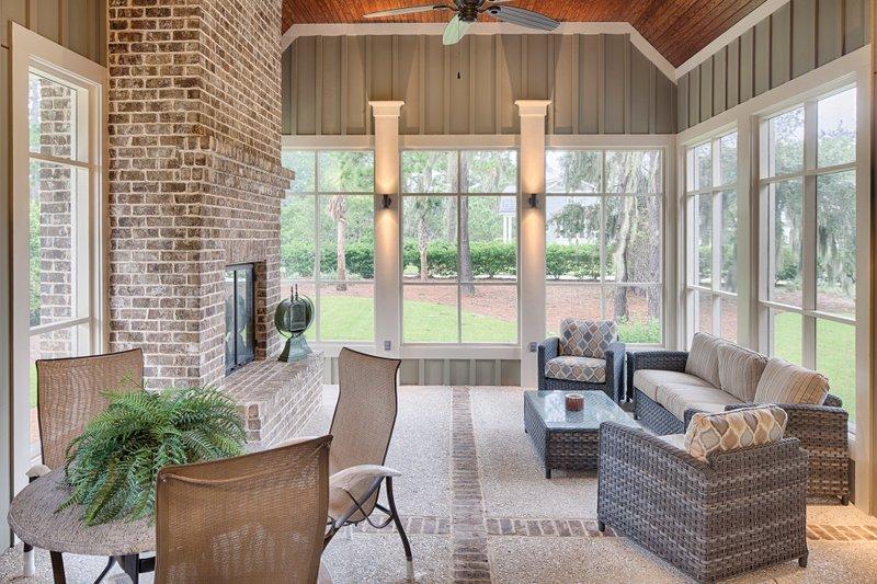Farmhouse Exterior - Outdoor Living Plan #928-10 - Houseplans.com