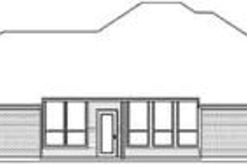 Traditional Exterior - Rear Elevation Plan #84-175 - Houseplans.com