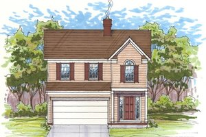 Dream House Plan - Farmhouse Exterior - Front Elevation Plan #435-1