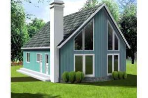Cottage Exterior - Front Elevation Plan #1-275