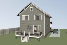 Craftsman Exterior - Rear Elevation Plan #79-306