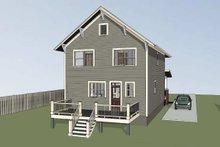 House Plan Design - Craftsman Exterior - Rear Elevation Plan #79-306