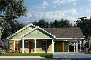 House Plan Design - Traditional Exterior - Front Elevation Plan #923-216