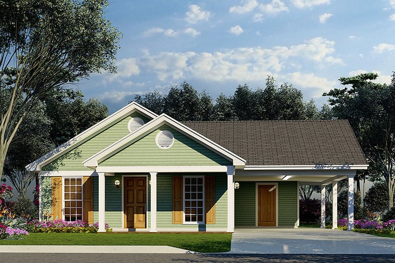 Architectural House Design - Traditional Exterior - Front Elevation Plan #923-216