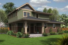 Country Exterior - Rear Elevation Plan #48-638