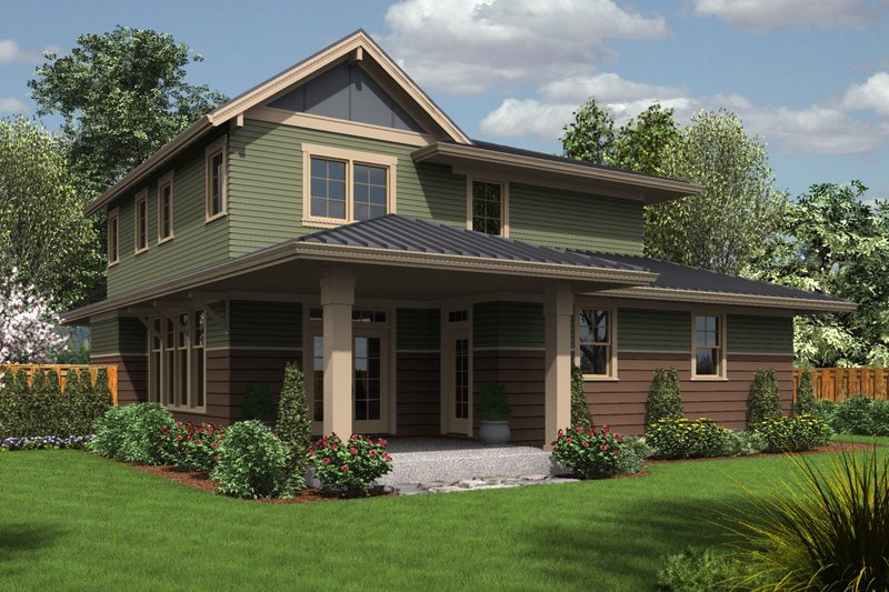 Country Exterior - Rear Elevation Plan #48-638 - Houseplans.com