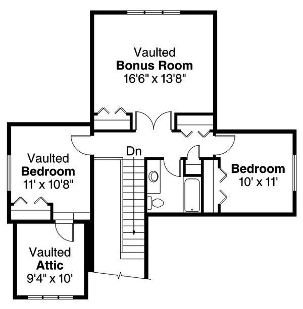 Craftsman Floor Plan - Upper Floor Plan #124-890
