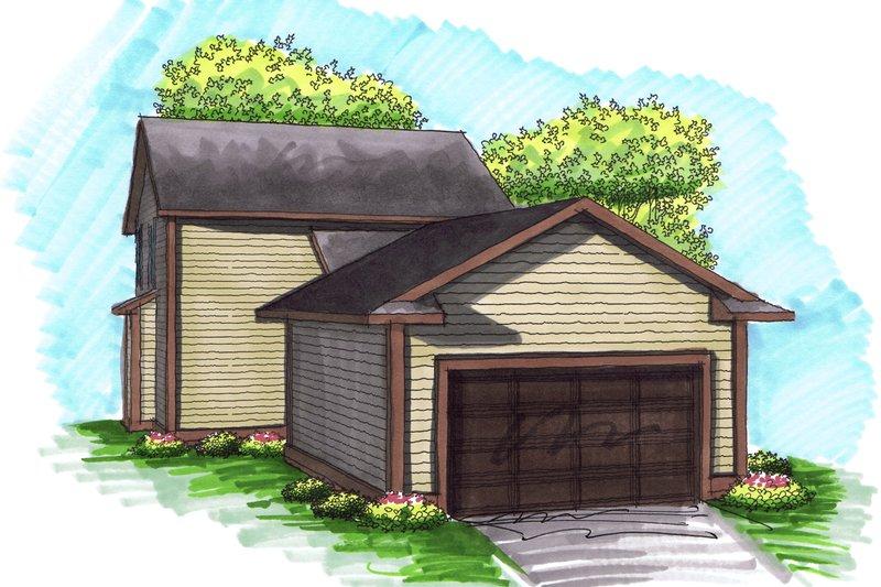 Traditional Exterior - Rear Elevation Plan #70-1029 - Houseplans.com