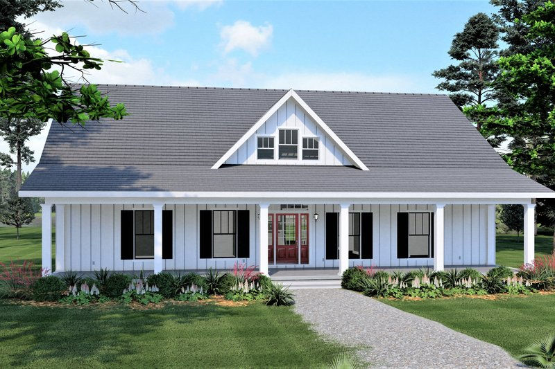 Home Plan - Traditional Exterior - Front Elevation Plan #44-253