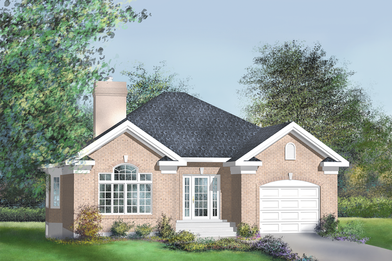 European Style House Plan - 2 Beds 1 Baths 1400 Sq/Ft Plan #25-4651 Exterior - Front Elevation