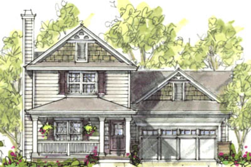 Farmhouse Exterior - Front Elevation Plan #20-1218