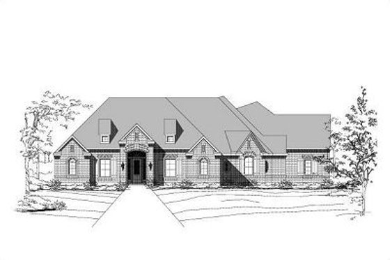 European Exterior - Front Elevation Plan #411-540
