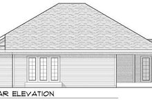 Home Plan - Ranch Exterior - Rear Elevation Plan #70-926