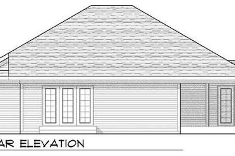 Ranch Exterior - Rear Elevation Plan #70-926 - Houseplans.com