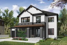 Architectural House Design - Craftsman Exterior - Front Elevation Plan #23-2659