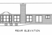 Home Plan - Ranch Exterior - Rear Elevation Plan #22-102
