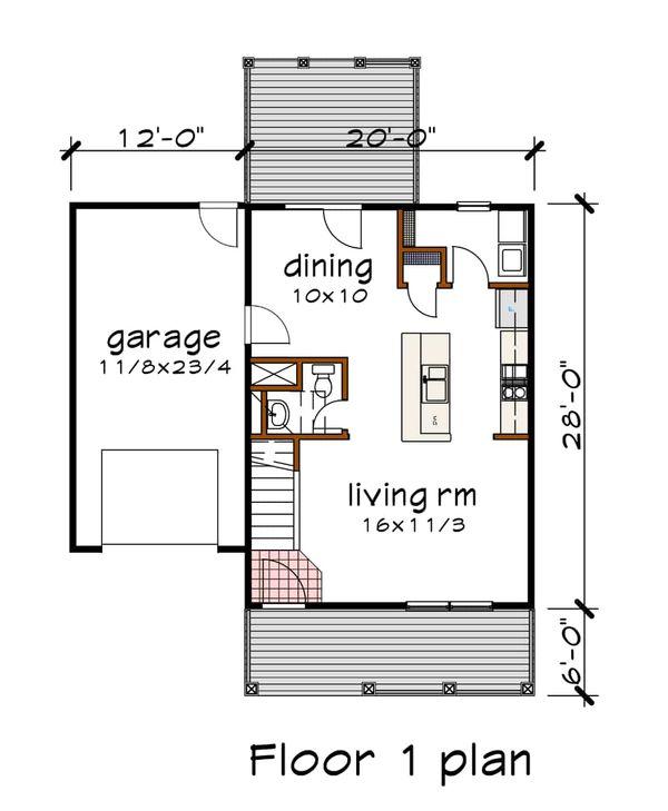 Architectural House Design - Cottage Floor Plan - Main Floor Plan #79-123