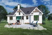 Farmhouse Style House Plan - 3 Beds 2 Baths 1398 Sq/Ft Plan #929-1107