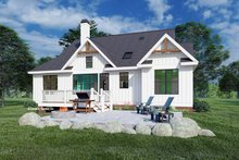 House Blueprint - Farmhouse Exterior - Rear Elevation Plan #929-1107