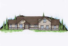 House Plan Design - Ranch Exterior - Front Elevation Plan #5-387