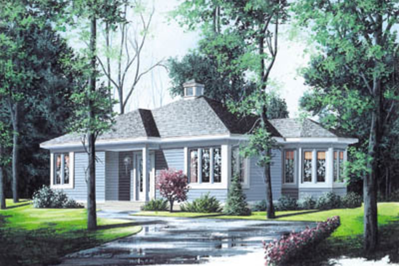 Cottage Exterior - Front Elevation Plan #23-166