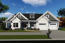 Home Plan - Ranch Exterior - Front Elevation Plan #70-1421