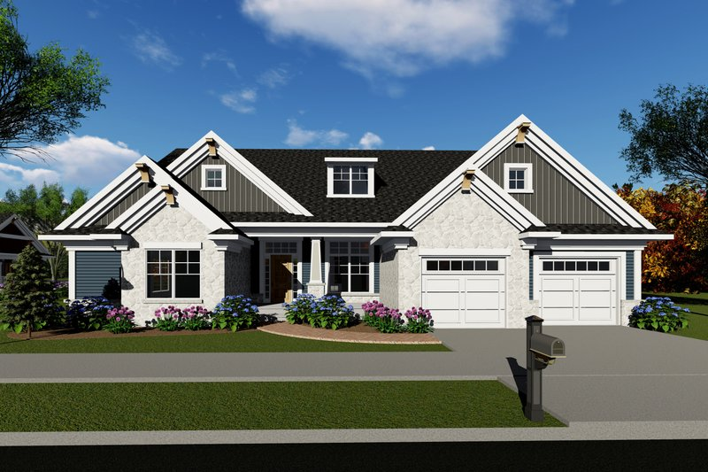 Dream House Plan - Ranch Exterior - Front Elevation Plan #70-1421