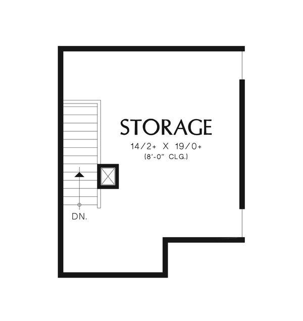 Craftsman Floor Plan - Other Floor Plan #48-542