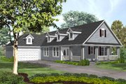 Traditional Style House Plan - 2 Beds 2.5 Baths 1745 Sq/Ft Plan #50-131 Exterior - Front Elevation