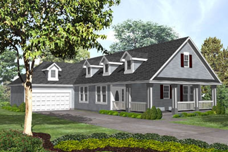 Traditional Style House Plan - 2 Beds 2.5 Baths 1745 Sq/Ft Plan #50-131