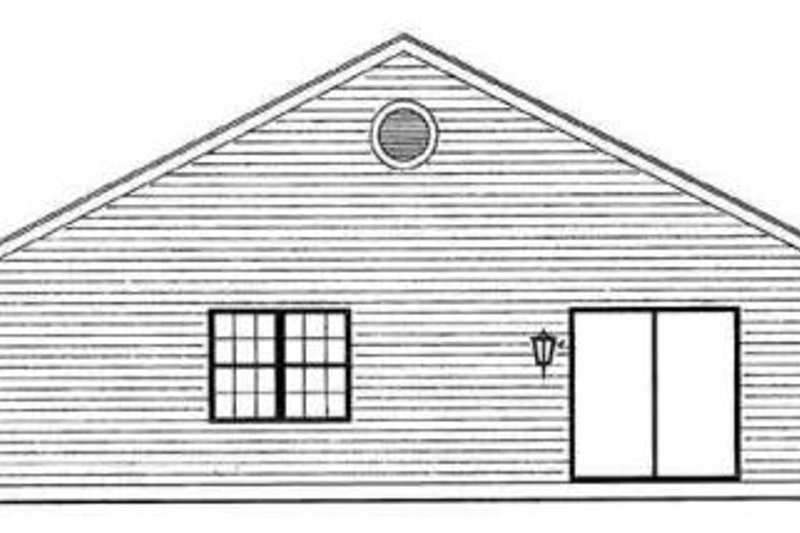 Traditional Exterior - Rear Elevation Plan #72-226 - Houseplans.com