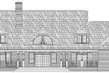 Country Exterior - Rear Elevation Plan #119-224