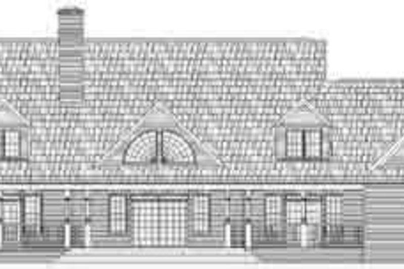 Country Exterior - Rear Elevation Plan #119-224 - Houseplans.com