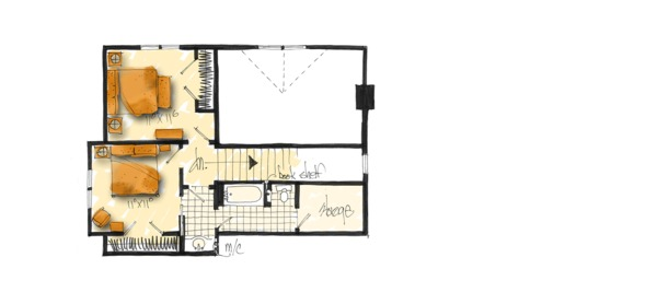 House Plan Design - Country Floor Plan - Upper Floor Plan #942-47
