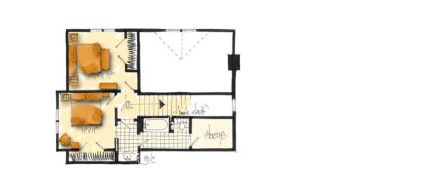 Country Floor Plan - Upper Floor Plan #942-47