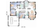 European Style House Plan - 2 Beds 1 Baths 1572 Sq/Ft Plan #23-130 Floor Plan - Main Floor Plan