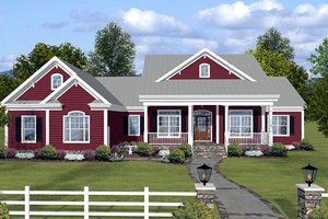 Front view - 2200 square foot 3 bedroom country home