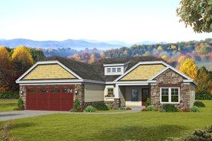 Craftsman Exterior - Front Elevation Plan #932-171